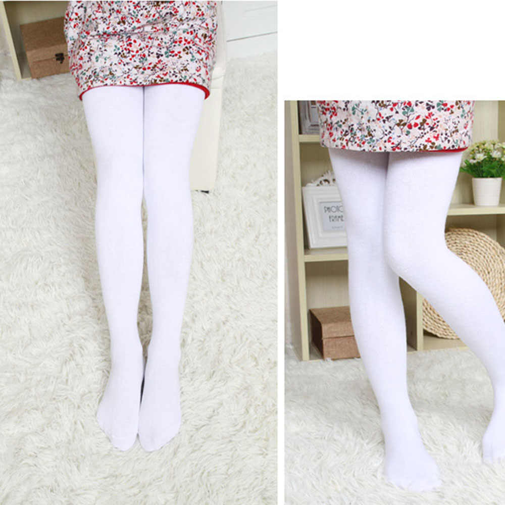 a39f713cd58 ... 2018 New Fashion Kids Girls Ballet Warm Soft Thick Fleece White Leggings  Lined Trousers Pantyhose For ...