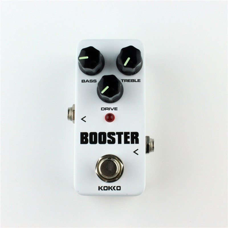 KOKKO FBS 2 Mini Guitar Effect Pedal Guitarra Booster High-Power Tube Electric Guitar Two Segment EQ Effect Device Parts kokko frb2 mini space pedal portable guitar effect external ac adapter delivering 9v dc regulated guitar parts