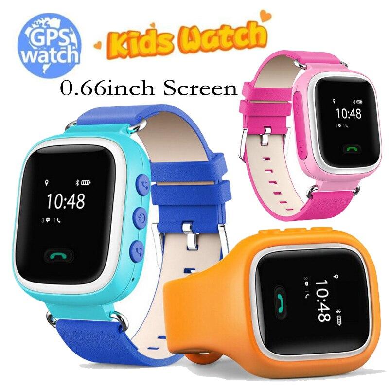 Kids Smart Watch GPS Tracker Locator SOS Call Finder Locator Device Safe Anti-lost Monitor Wristwatch 1.0 inch for Children Q60