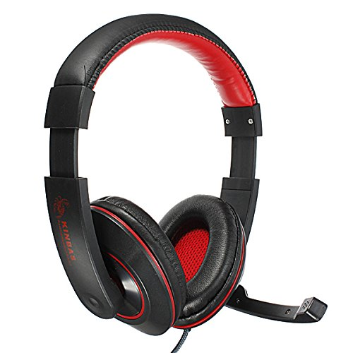 HFES New KINBAS 3.5mm Stereo Gaming Headphone Headset Headphone with Mic Microphone for PC Laptop Skype