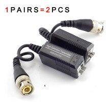 1pair BNC UTP Cat5/5e/6 Video Balun Transceiver Trasmettitore Adattatore per HD 720P 1080P AHD CVI TVI Camera 200M CCTV A7