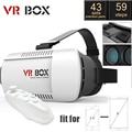 Caja de casco de realidad virtual gafas 3d vr vr google gafas de cartón para iphone para samsung 3d video glasses + controlador de juegos