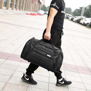 Image 5 - Bucbon 45l كبيرة متعددة الوظائف الرياضة حقيبة الرجال صالة اللياقة البدنية النسائية حقيبة مقاوم للماء في الهواء الطلق السفر الرياضة حمل حقائب كتف SGD001