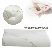 Fiber Slow Rebound Health Care Memory Foam Pillow Bamboo Support The Neck Fatigue Relief