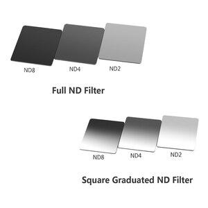 Image 2 - ND Filter Set Light Filter ND2 ND4 ND8 Square Filter File Metal Adapter Ring Filtre Bracket For Nikon D3400 Canon EOS Cokin
