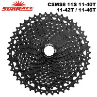 SunRace CSMS8 Bicycle Cassette 11 speed 11 40T / 11 42T / 11 46T , 11S MTB Bike Freewheel for SHIMANO SRAM