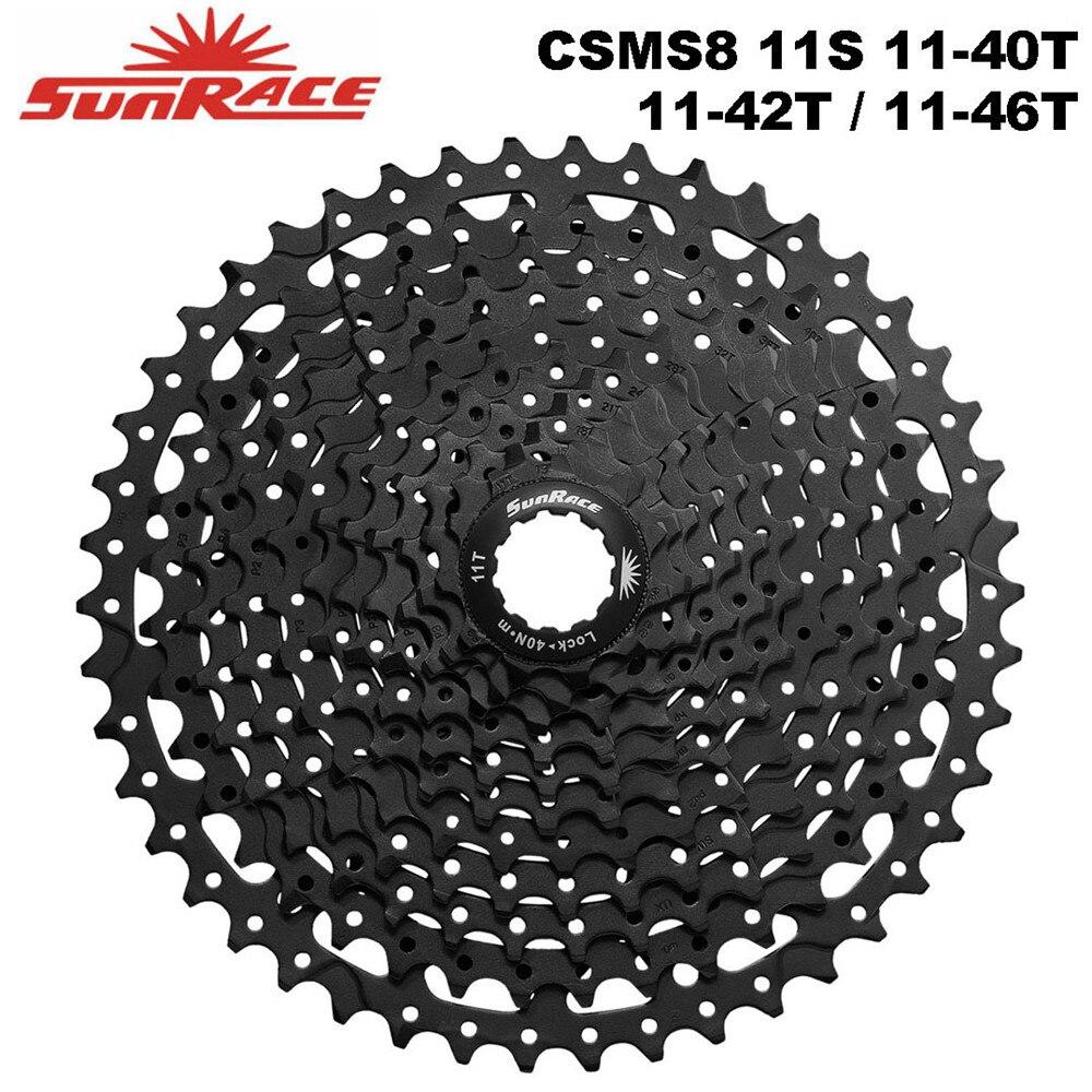 SunRace CSMS8 vélo Cassette 11 vitesses 11-40 T/11-42 T/11-46 T, 11 S vtt vélo roue libre