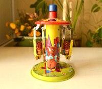 Retro tin toy clockwork rare Clockwork tin Playground Happy turntable Collection
