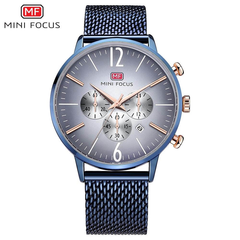 Chronograph Men Business Watch Waterproof Fashion Mens Mesh Casual Wristwatch Military Male Sport Quartz Waches Dropshipping