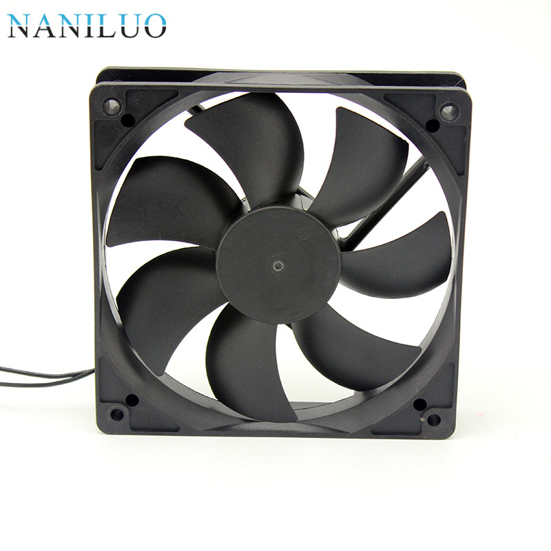 1pc  Silent 120x120x25mm 120mm DC 12V 2 Pin Brushless Computer Cooling Fan