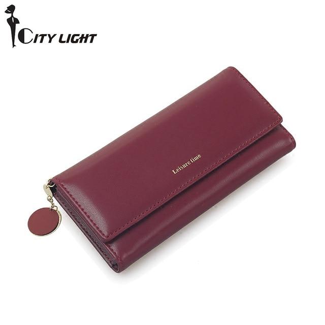 New Fashion Women Wallets Long Style Multi-functional wallet Purse Fresh PU leather Female Clutch Card Holder 1