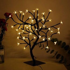 Image 3 - Nouveau 24/36/48 leds cerisier fleur arbre décoratif lumières cerisier fleur ordinateur de bureau lampe pour la maison Festival fête mariage noël