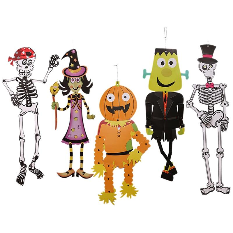 5 Styles Halloween Ghost Skull Witch Pumpkin Hanging