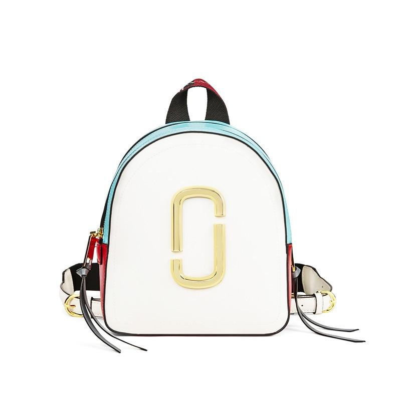 Fashion Women Backpack 2019 New Contrast Colorblock Backpack Mini Shoulder Bag Female Mochila Gift Backpack School Bag For Girls