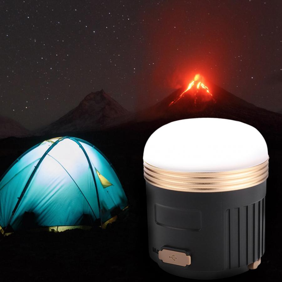 USB Charging LED Light Tent Lamp Bluetooth Speaker With Magnet & Hook For Camping Emergency Night Light
