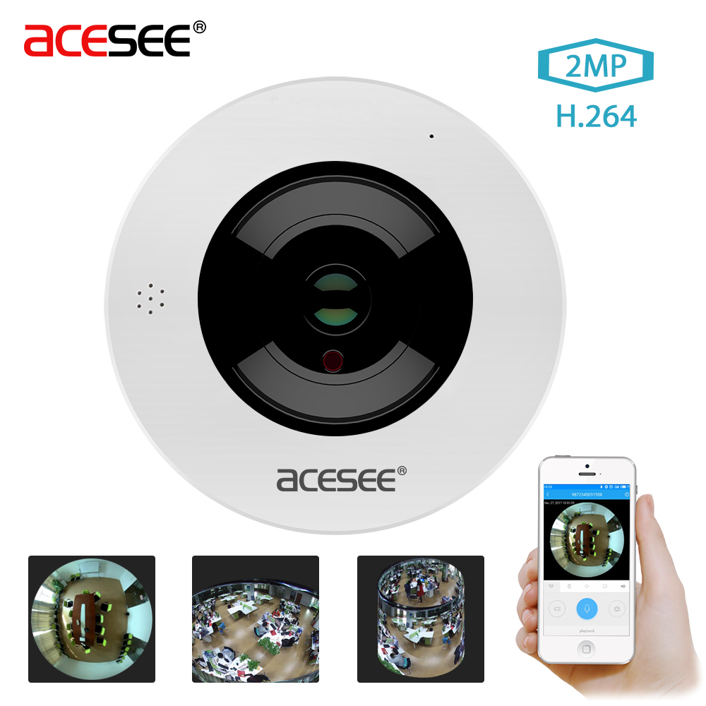Acesee 5MP LEN Fisheye VR Panoramic Camera 2MP Wireless Wifi IP Camera Home Security Surveillance Camera Wi-fi 360 Degree Webcam vr360 panoramic camera wi fi remote control sports action camera