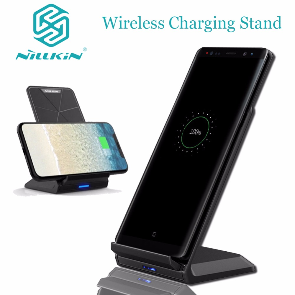 Nillkin Fast Wireless Charger Stand Qi Wireless Charging Pad for iPhone X 8 7 6s 6 Plus Samsung S6 S7 Edge S8 Plus Note 8