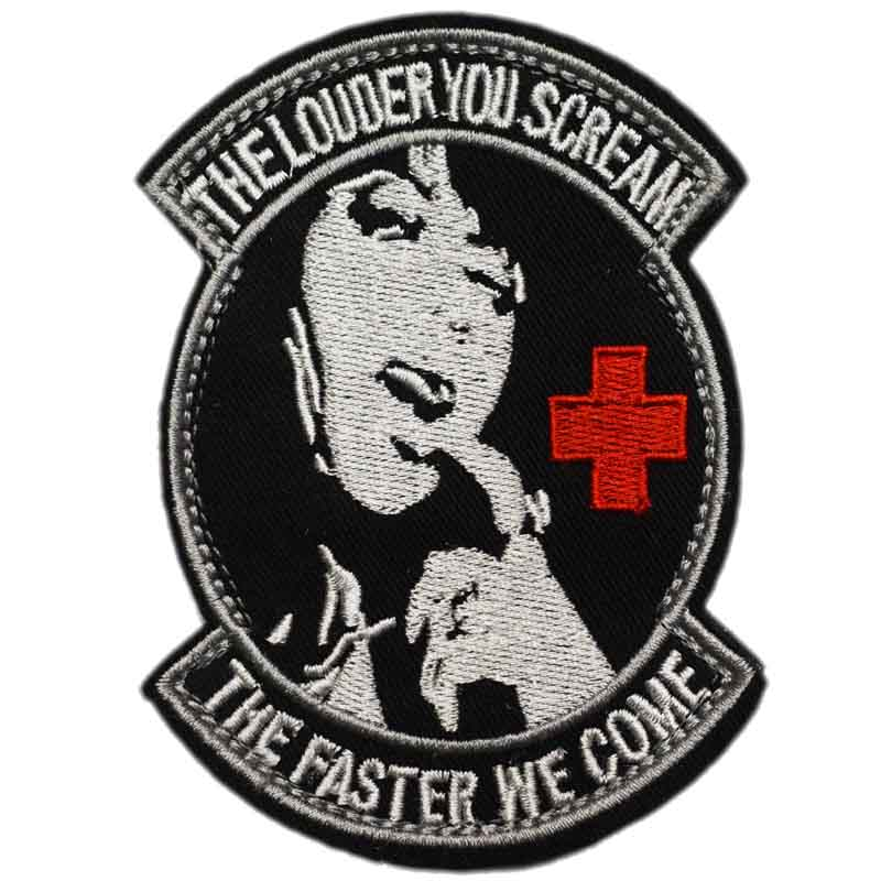 Rock & Pop 4 The Louder You Scream Army Isaf Tactical Medic Hook & Loop Patches Badge Morale Milspec Military Swat Embroidered Bag Outdoor To Rank First Among Similar Products Entertainment Memorabilia