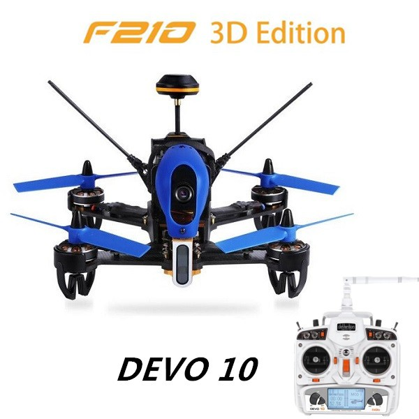 Walkera F210 3D Edition + Devo 10 Remote Control Racing Drone 700TVL Camera / OSD Included RTF 2.4GHz walkera f210 3d edition bnf version without remote controller rc racing drone quadcopter with osd 700tvl camera