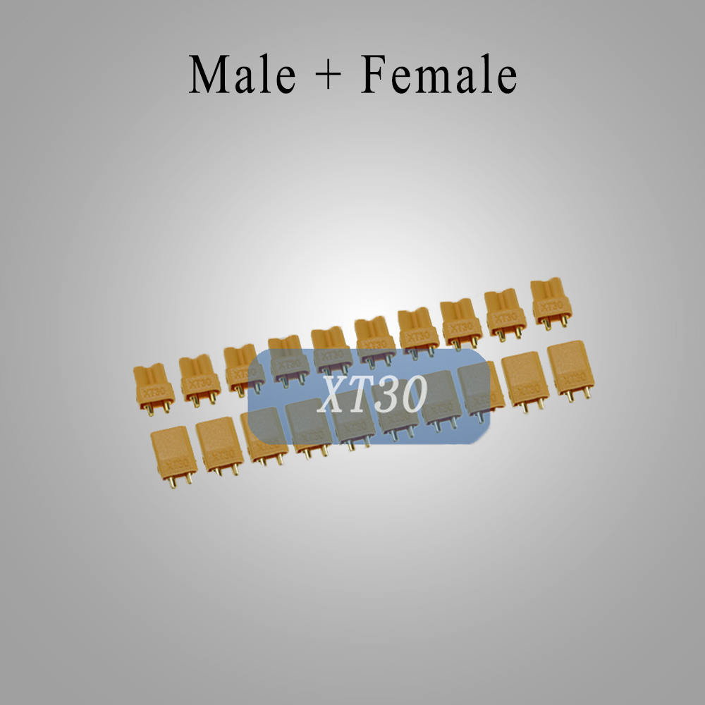 "Amass разъем XT30 XT30U XT60 XT90 Разъем типа ""банан"" Пуля разъем мужской женский для RC FPV Lipo разъем батареи - Цвет: XT30 10Pair"