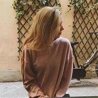 Bazaleas 2017 Candy Color Long Sleeve pullover casual fashion women Hoodies solid women sweatshirt