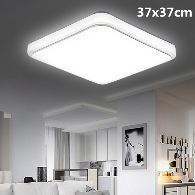 Modern Simple 110v 240v 24w Square Led Ceiling Lighting For Living Room Bedroom 37 X