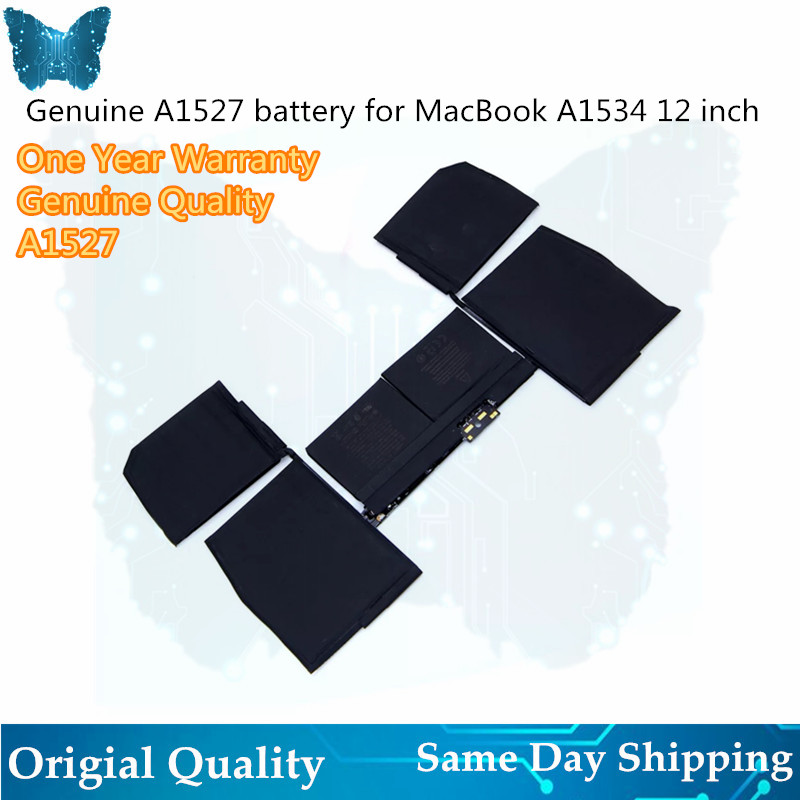 "New Original Laptop A1527 Battery for Apple macbook pro retina 12"" A1534 Battery 2015 2016year 7.55V 5263MAH-in Laptop Batteries from Computer & Office"