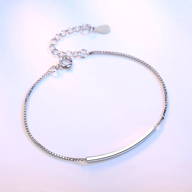 Solid 925 Sterling Silver Bracelet Female Korea Style Cute Bracelet