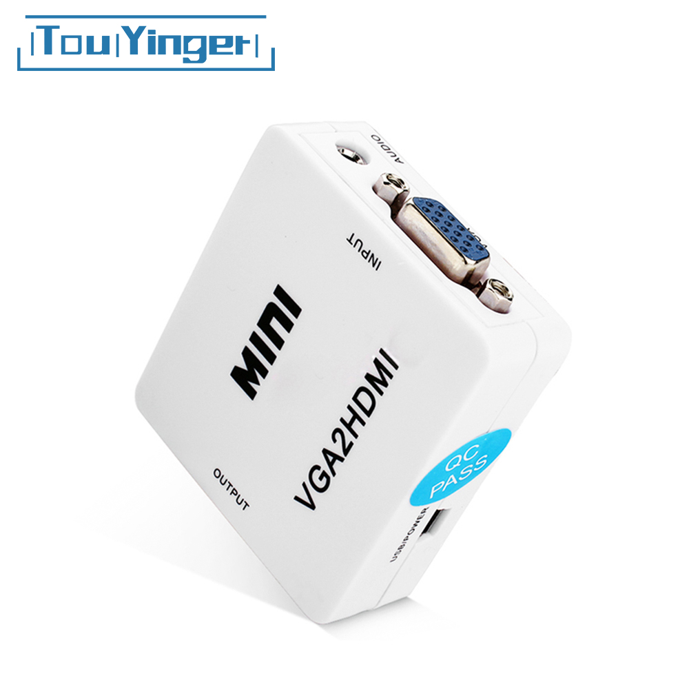 Connector Video 1080P Mini VGA Audio for PC Laptop-To-Hdtv VGA2HDMI Hdmi-Converter Adapter