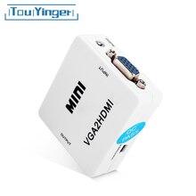 Mini konwerter VGA na HDMI wideo Audio VGA2HDMI HDMI2VGA AV2HDMI HDMI2AV 1080P złącze adaptera do komputera przenośnego do telewizora HDTV