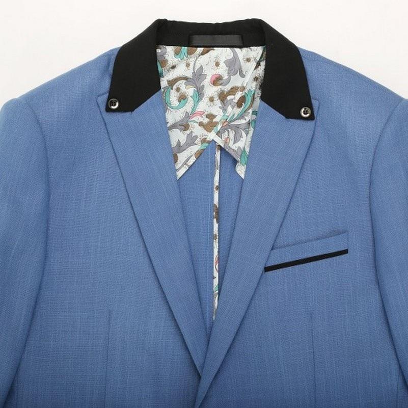 2017 Blazers para hombres slim fit casual traje azul cielo ocio chaqueta  azul chaqueta para hombre traje de verano fresco estudiante de diseño  universidad ... b3b9f22b088