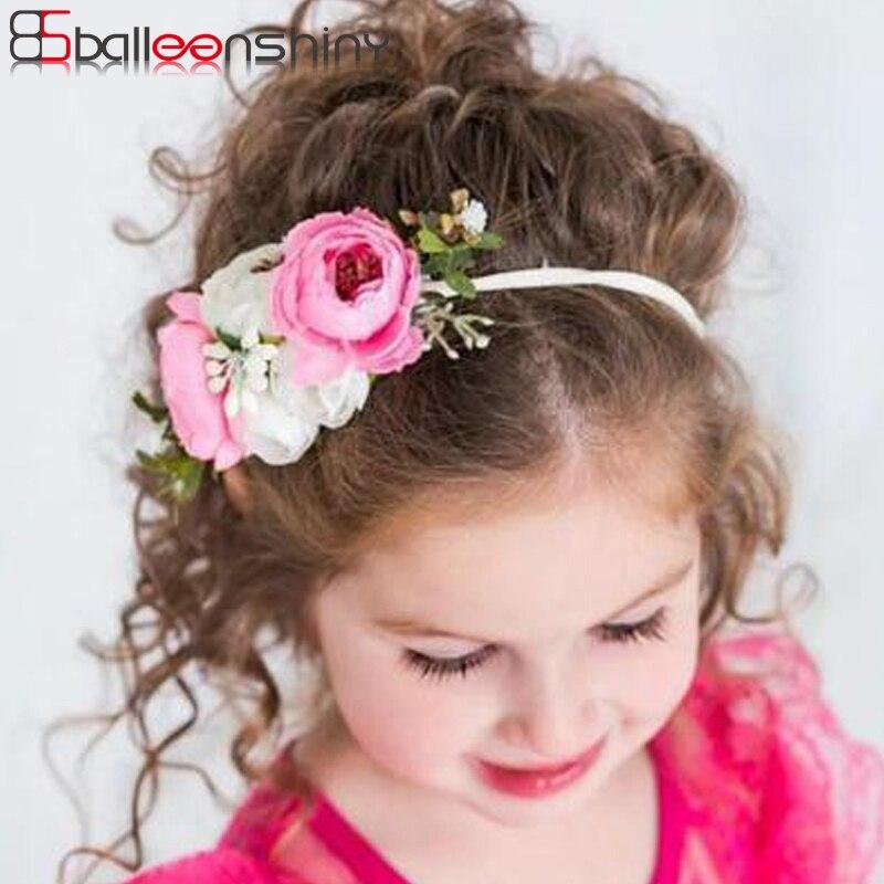 BalleenShiny Baby Girls Artificial Flower Headband Children Kids Lovely Fashion Hair Band Hair Accessories Photo Prop Hot Sale