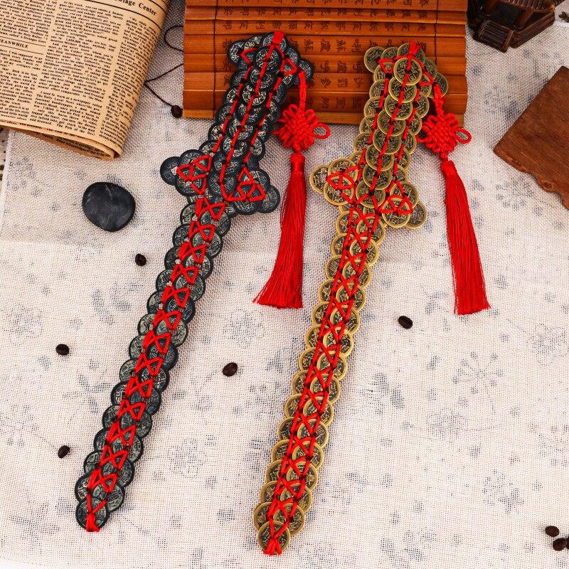 Épée Double argent de qualité supérieure deux couches de sabre de cuivre Feng Shui bijoux en cuivre épée chinoise