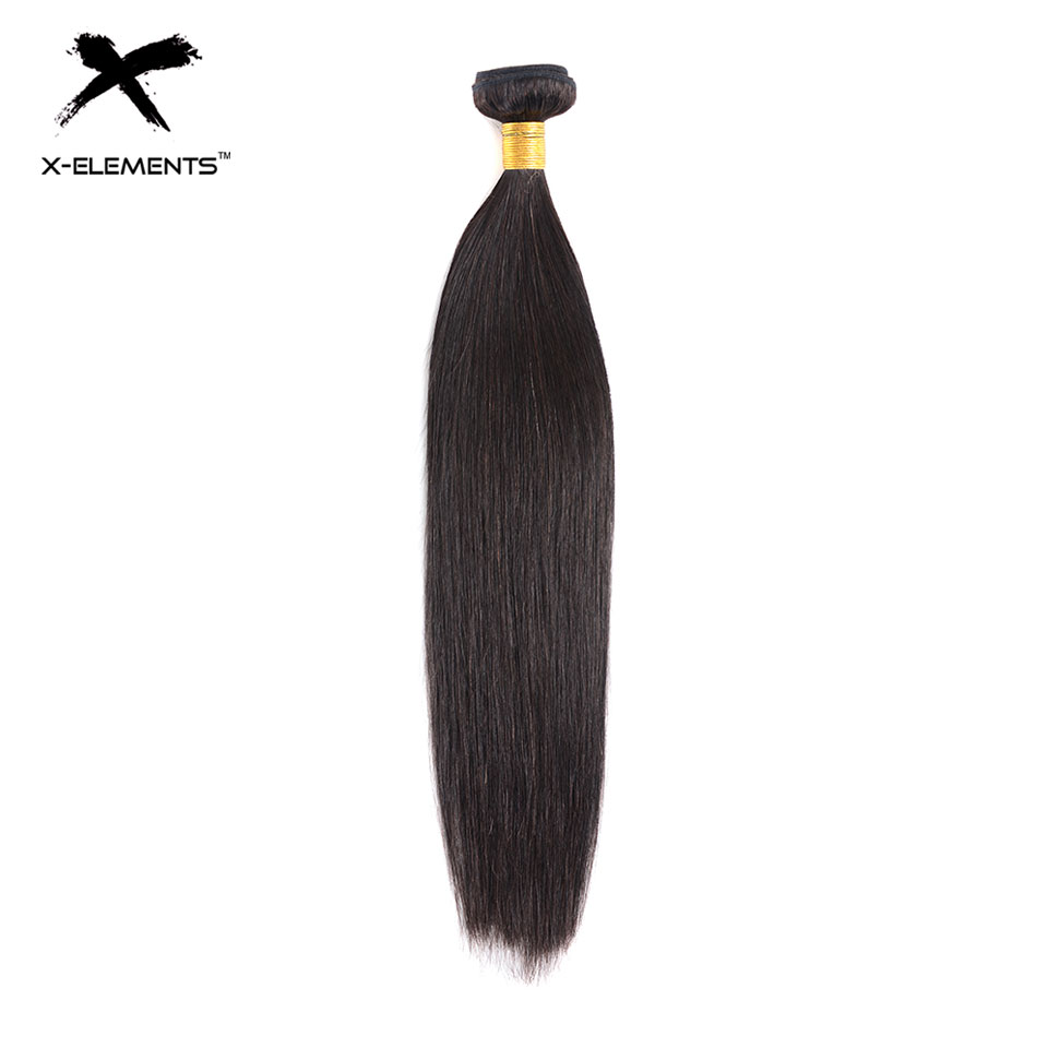 X-Éléments 100% de Cheveux Humains Faisceaux Non-Remy Droite Cheveux Malaisiens Tisse 1 Bundles Naturel Couleur 8 -26 cheveux Extensions
