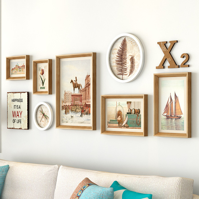 Nordic Style 7pcsset Home Love Photo Frame Wall Multi Size Cheap
