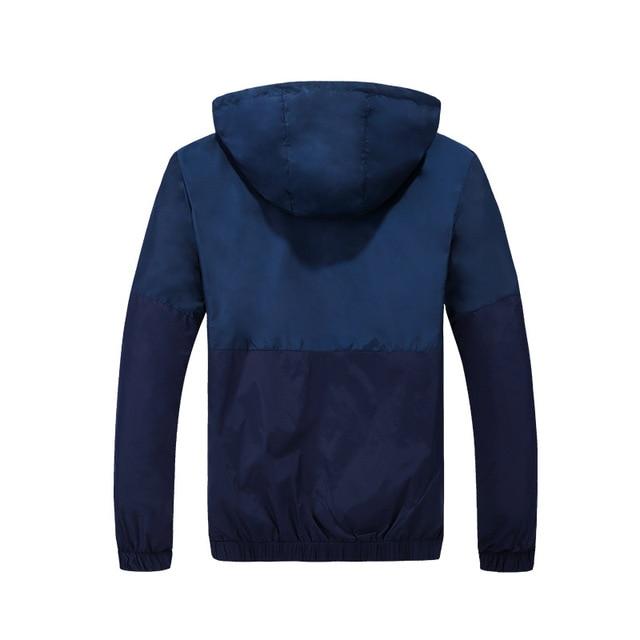 2021 Spring Autumn Fashion Jacket Men's Hooded Casual Jackets Jacket Men WindbreakerMale Coat Thin Men Coat Outwear Couple 4