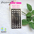 1pc New Airbrush 3 Way Nail Paint Butterfly Design Nail Art Template Manicures Tip Makeup Tool NLK03 Nail Sticker Stencil Design