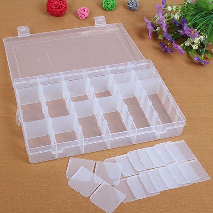 36 Сетка Пластик Регулируемая Ювелирные изделия Организатор Box Контейнер для хранения Дело hg99