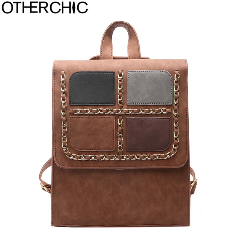 OTHERCHIC Nubuck Leather Backpack Women Vintage Backpacks Teenagers School Bags Fashion Female Backbags Sac a dos