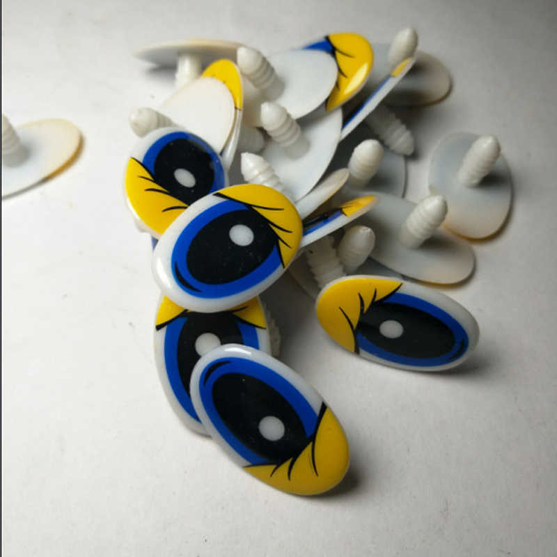 10 قطعة دمية الكرتون عيون عيون السلامة للعب اليدوية البلاستيك دمية العين الأطفال DIY بها بنفسك دمى محشوة الحيوان الحرف الدمى 9 S