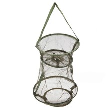 Great New Sale Top Quality  Collapsible Fresh Water Nylon Practical Floating Fish Basket Mesh Net