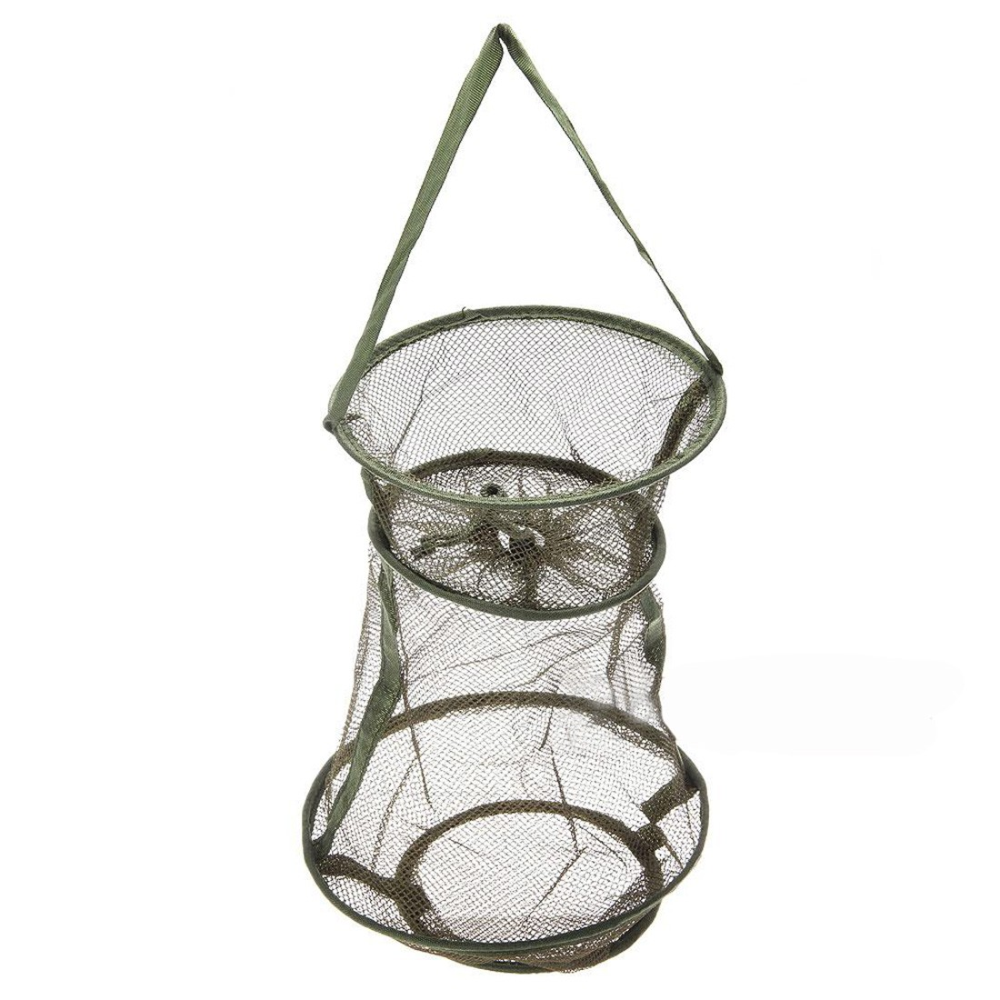 Portable 4 Sizes 3 Layer Fishing Net Round Folding Fish Shrimp Mesh Cage Cast Net Fishing Trap Network Fold