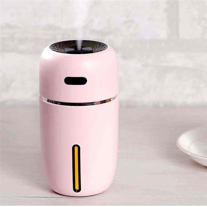 Humidificador USB Luz De noche cálida purificador de aire de coche de casa de alta capacidad humidificador de aire de la Oficina del hogar difusor de ambientador purifie 19feb2