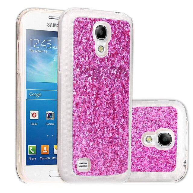 38a6b31e895 Bling TPU cubierta para Samsung Galaxy S4 mini caso brillo chispeante  mujeres cubierta suave brillante Fundas