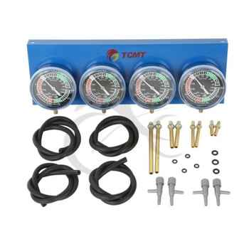 Motorcycle Universal Gauge 4-Carb Carburetor Synchronizer Set kit Vacuum Hoses Extensions 4 GL 1100 1200 1500 CB for Honda - DISCOUNT ITEM  17% OFF All Category