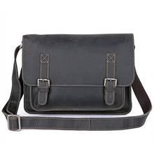 Men Messenger Bags Casual Black   Cow Leather Business Travel Bags Male  Leisure Shoulder Fashion Vintage Crossbody Bags недорого