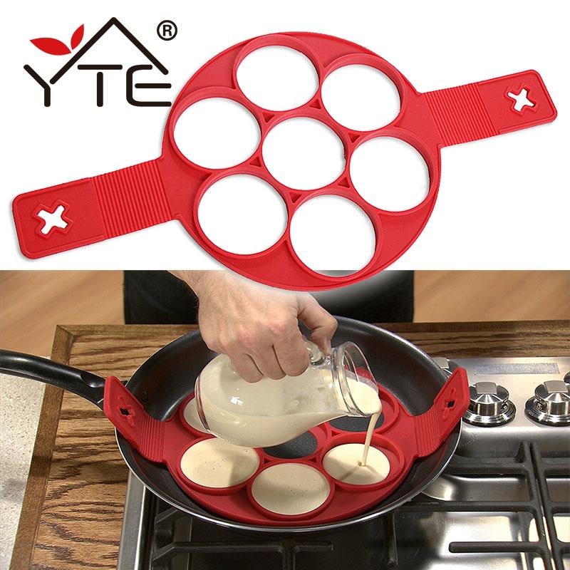 YTE блина антипригарной Пособия по кулинарии инструмент Яйцо Кольцо чайник блины сыр яйцо Плита Пан флип яйца плесень Кухня Аксессуары для выпечки форма для яичницы форма для оладий формы для яичницы форма для яичницы