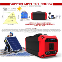 220V/300W High Power Outdoor Portable UPS Power Emergency Solar Generator Car Auto Emergency Power Bank with Display