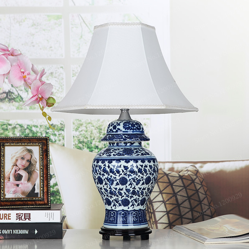 Bon Aliexpress.com : Buy Porcelain Chinese Style Blue And White Porcelain Table  Lamp Vintage Ceramic Decoration Table Lamps For Bedroom/Living Room From ...