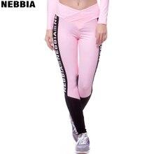 NEBBIA Для женщин женские брюки для занятий йогой и спортом упражнения трико для фитнеса бега Беговые Брюки Тренажерный зал тонкий компрессионные штаны, легинсы Sexy бедра